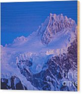 Glacier Covered Paine Grande, Chile Wood Print