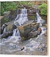 Glacier Falls Glacier National Park Wood Print
