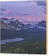 Glacier Glow Wood Print