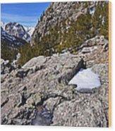 Glacier Gorge Ahead Wood Print