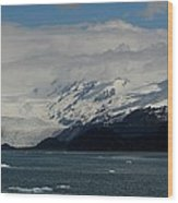Glacier In Prince William Sound Wood Print