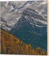 Glacier National Park Big Bend Wood Print