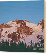 Glacier Peak At Kennedy Ridge Wood Print