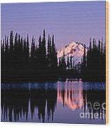Glacier Peak Sunrise On Image Lake Wood Print