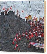 Glacier Pilgrimage Quyllur Riti Festival Wood Print