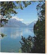Glacier Reflections Wood Print