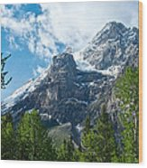 Glacier Seen From Kicking Horse Campground In Yoho Np-bc Wood Print