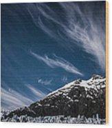 Glacier Sky Wood Print