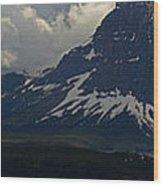 Glacier Storm Brewing Wood Print