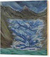 Glacier To Ocean Wood Print