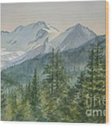 Glacier Valley Morning Sky Wood Print