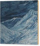 Glacier View Wood Print