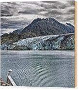 Glacier View Wood Print