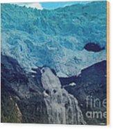 Glacier Waterfall Wood Print