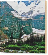 Glaciers Along Plain Of Six Glaciers Trail In Banff Np-alberta Wood Print