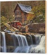 Glade Creek Cascades Wood Print