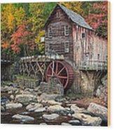 Glade Creek Grist Mill 3  Wood Print