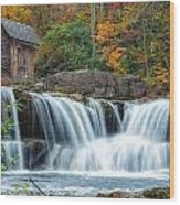 Glade Creek Grist Mill And Waterfalls Wood Print