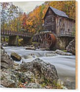 Glade Creek Grist Mill-babcock State Park West Virginia Wood Print by Dick Wood