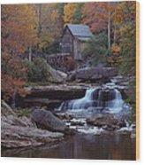 Glade Creek Grist Mill In Autumn Wood Print