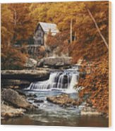 Glade Creek Mill Selective Focus Wood Print