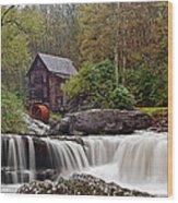 Glade Creek Waterfall Wood Print
