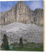 Gladiator Mountain Campsite Wood Print