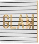 Glam Pinstripe Gold Wood Print