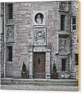 Glamis Castle. Doorway Wood Print