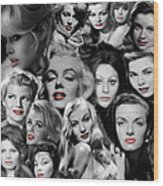 Glamour Girls 1 Wood Print