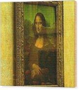 Glance At Mona Lisa Wood Print