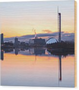 Glasgow Waterfront At Dawn Boxing Day Wood Print