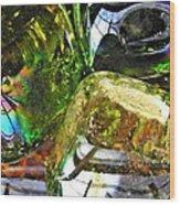 Glass Abstract 119 Wood Print