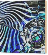 Glass Abstract 132 Wood Print