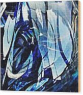 Glass Abstract 140 Wood Print