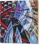 Glass Abstract 220 Wood Print