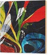Glass Abstract 297 Wood Print