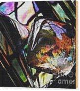Glass Abstract 314 Wood Print