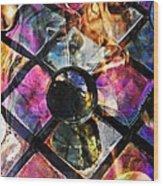 Glass Abstract 393 Wood Print