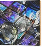 Glass Abstract 396 Wood Print
