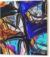 Glass Abstract 4 Wood Print