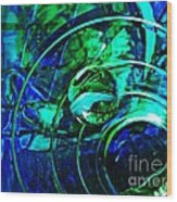 Glass Abstract 477 Wood Print