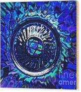 Glass Abstract 481 Wood Print