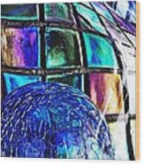 Glass Abstract 490 Wood Print