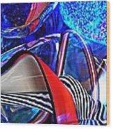 Glass Abstract 503 Wood Print