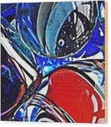 Glass Abstract 507 Wood Print