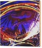 Glass Abstract 554 Wood Print