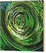 Glass Abstract 575 Wood Print