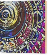 Glass Abstract 588 Wood Print