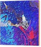 Glass Abstract 597 Wood Print